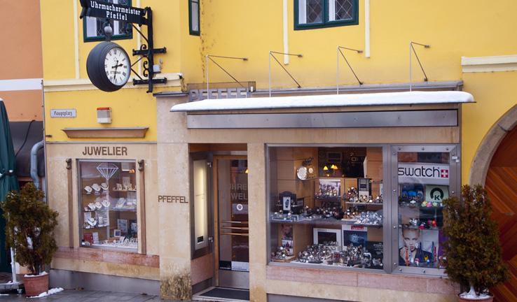 Unser Juweliersgeschäft in Neulengbach von aussen